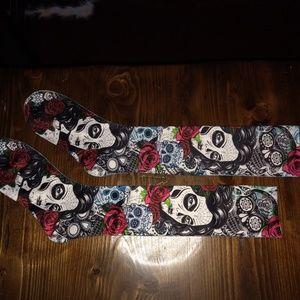 Other - Sugar Skull Knee Length Socks - Never Worn